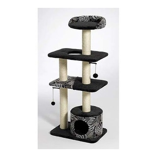 """Midwest Catitude Tower Cat Furniture Black 22"""" x 15"""" x 50.5"""""""