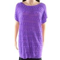 Lauren by Ralph Lauren Purple Women's Size Large L Knitted Sweater