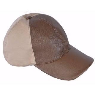 Gucci Men's 337798 Interlocking GG Calf Leather Canvas Baseball Cap Hat M