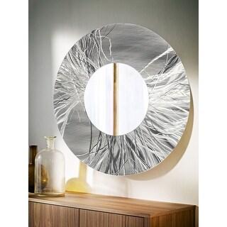 Statements2000 Silver Handmade Metal Wall Art Decorative Mirror by Jon Allen - Mirror 104