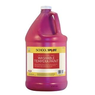 School Smart Non-Toxic Washable Tempera Paint, 1 gal Plastic Bottle, Magenta