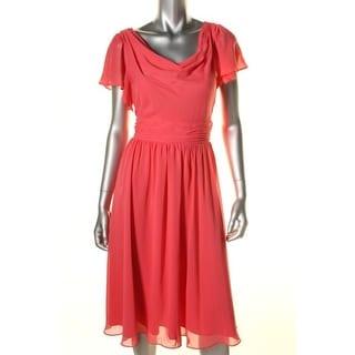 SL Fashions Womens Petites Cocktail Dress Chiffon Knee-Length - 6P