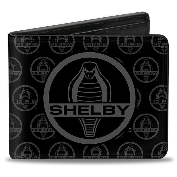 Shelby Cobra Center Monogram Black Gray Bi Fold Wallet - One Size Fits most