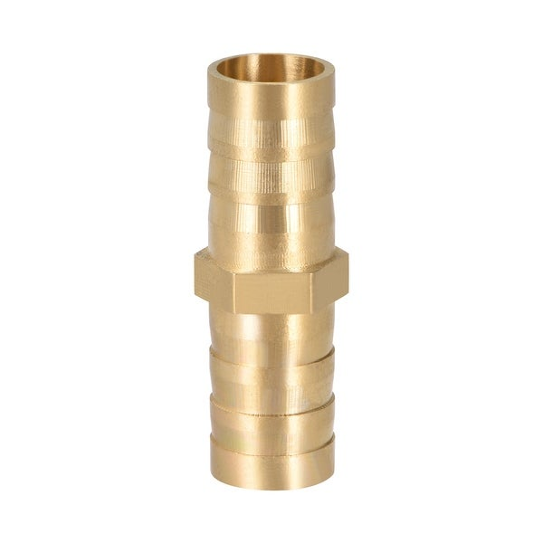 """15/32"""" Brass Barb Hose Fitting Straight Connector Joiner Air Water Fuel Boat - 12mm 1pcs"""