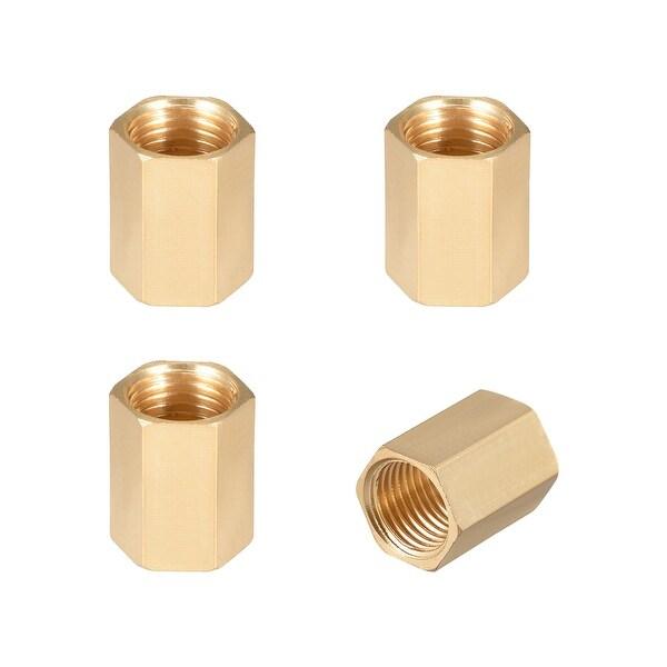 "Brass Pipe Fitting,1/4"" G Female Thread Straight Brass Hex Rod Pipe Fitting 4pcs - 1/4"" G Female 4pcs"