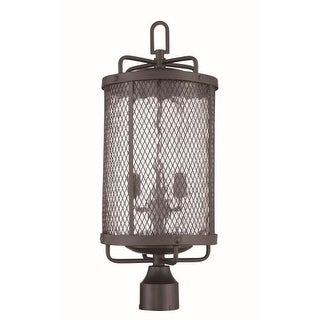 Craftmade Z2225 Blacksmith 3 Light Outdoor Post Light (Post Not Included) - 9.88 Inches Wide