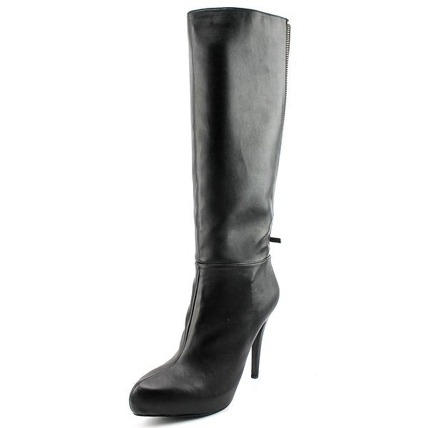 Aldo Paleven Women Round Toe Leather Black Knee High Boot