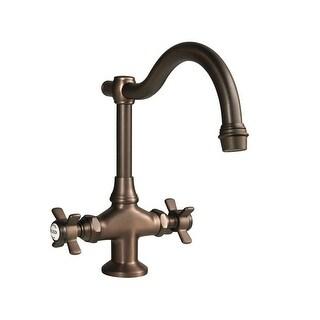 Newport Brass 1008 Fairfield Double Handle WaterSense Certified Bar Faucet with Metal Cross Handles