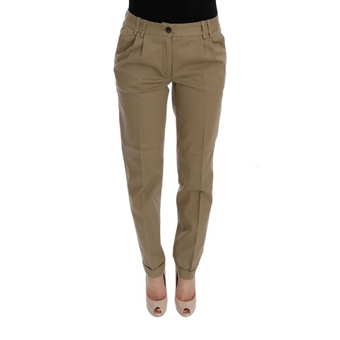 Dolce & Gabbana Dolce & Gabbana Beige Solid Pattern Casual Pants - it40-s