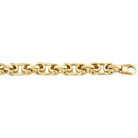 Men's 14K Gold 8 inch Fancy Link Chain Bracelet