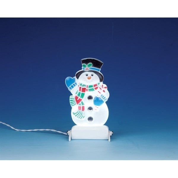 Lemax Christmas Village Battery Operated Snowman Yard Light Accessory #04242