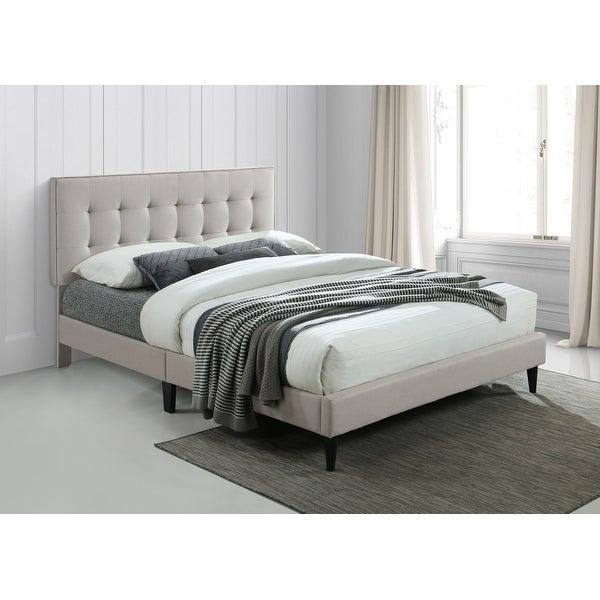 Ovis Ella Tufted Platform Bed, Upholstered Bed. Opens flyout.