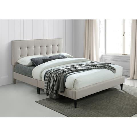 Ovis Ella Tufted Platform Bed, Upholstered Bed