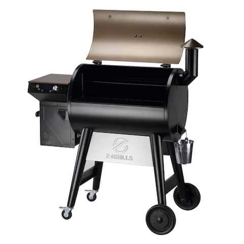 Z GRILLS Upgraded Wood Pellet Grill Smoker Portable,Digital Temperature Control, Hopper Clean-Out, 697 sq. in (Cover Included)