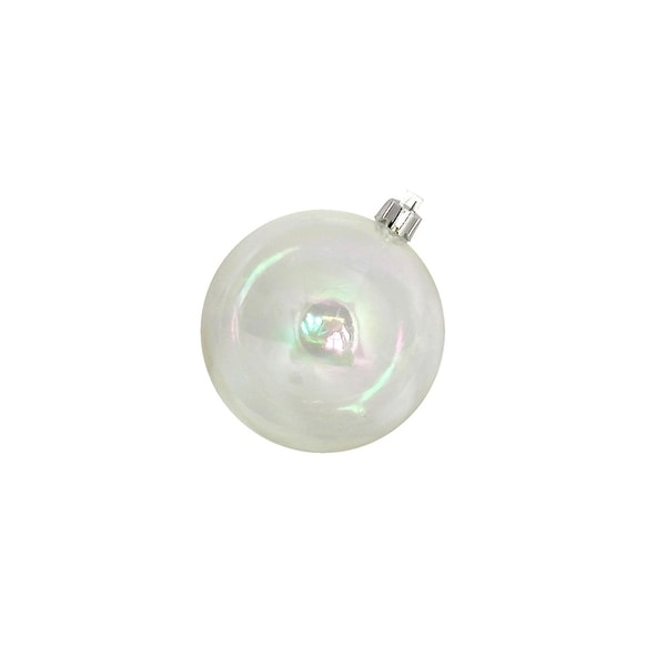 """96ct Clear Iridescent Shatterproof Christmas Ball Ornaments 3.25"""" (80mm)"""