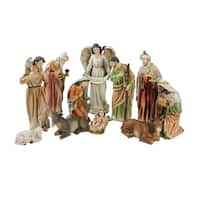 "11-Piece Traditional Religious Christmas Nativity Set with Removable Baby Jesus 15.5"" - multi"