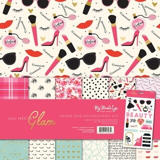 "My Mind's Eye Paper & Accessories Kit 12""X12""-Gal Meets Glam"
