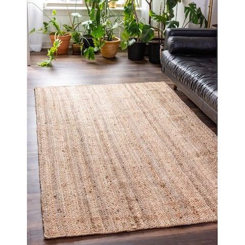 Unique Loom Dhaka Braided Jute Area Rug