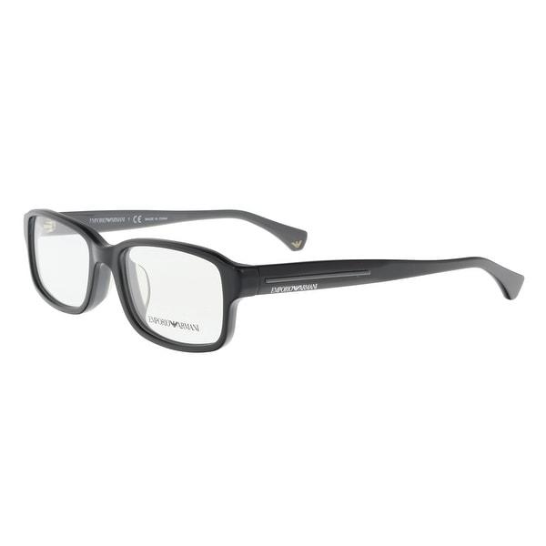 72dc6a14bb9 Shop Emporio Armani EA3028D 5102 Black Rectangle Optical Frames - 53 ...