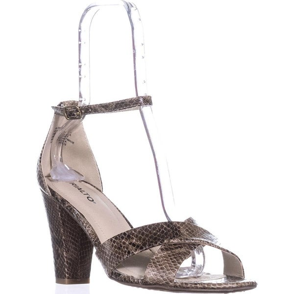 Rialto Raziela Ankle Strap Dress Sandals, Taupe/Print - 10 us