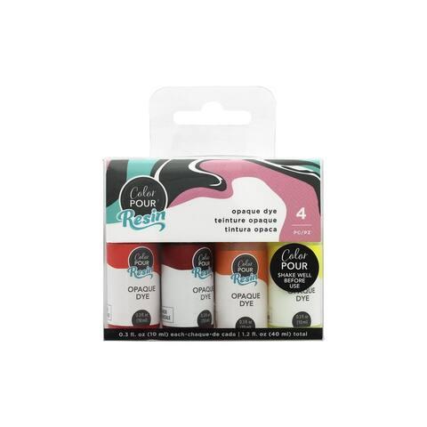 AMC Color Pour Resin Dye Opaque Warm 4pc