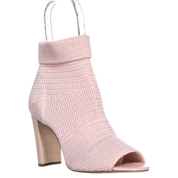 Shop Avec Les Filles Mariah Peep Toe Ankle Pull On Boots
