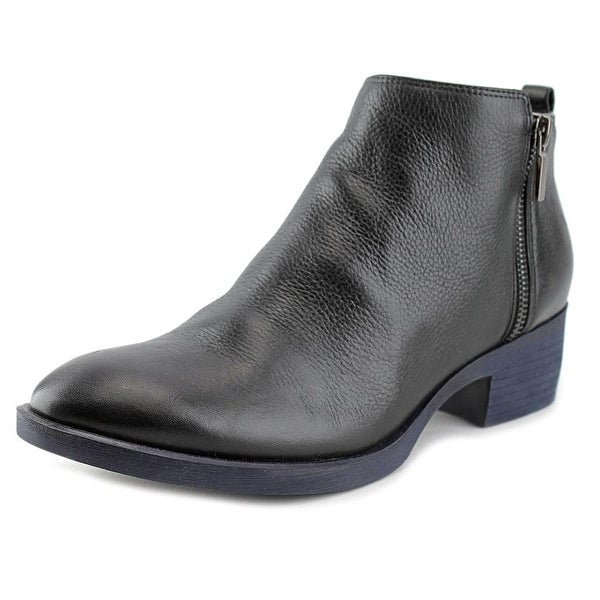 Kenneth Cole NY Levon Women Round Toe Leather Black Boot