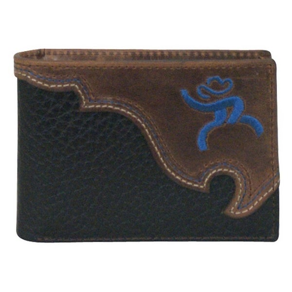 HOOey Western Wallet Mens Bifold Roughy Stitched Logo Brown - One size