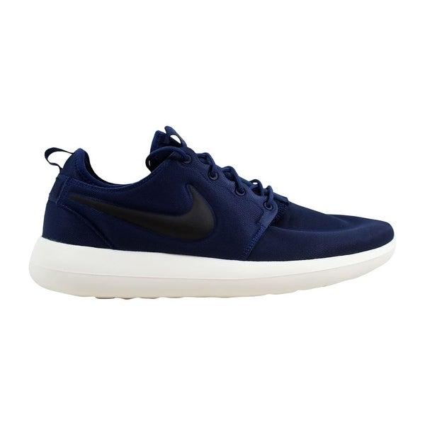 11901d5072cc8 Shop Nike Roshe Two Midnight Navy Black-Sail-Volt 844656-400 Men s ...