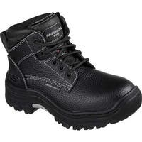 Skechers Women's Work Burgin Krabok Steel Toe Boot Black