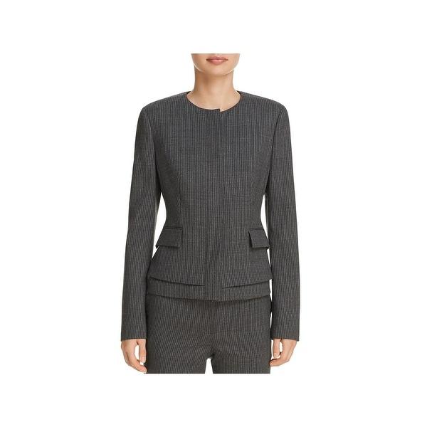 84fd261bd5 Shop BOSS Hugo Boss Womens Jasyma Peplum Jacket Wool Business - Free ...