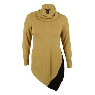 Alfani Women's Asymmetrical Metallic Knit Sweater
