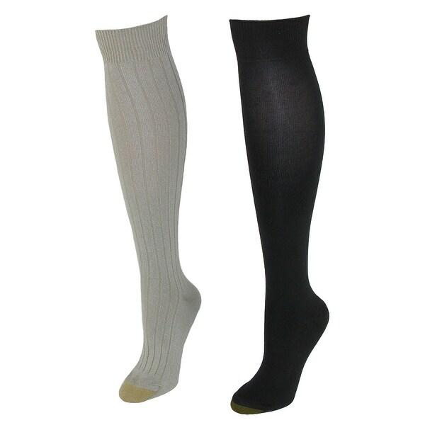Gold Toe Women's Plus Size Stella Knee High Socks (2 Pair Pack)