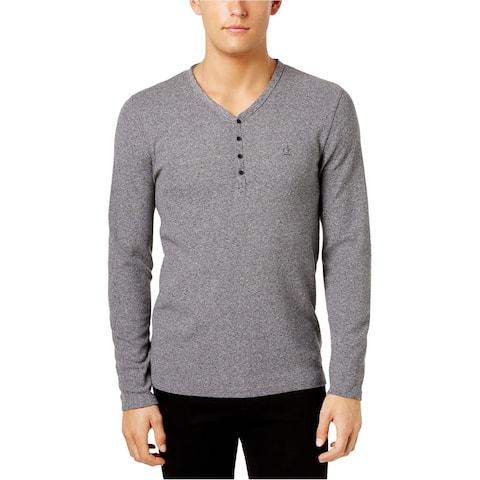 Calvin Klein Mens Double Hem Henley Sweater