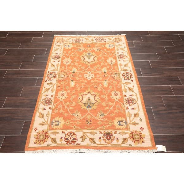 Hand Knotted Nourison Nourmak High Low Pile Burnt Orange Beige Oriental Area Rug Wool Traditional Oriental Area Rug 3x5 On Sale Overstock 31305053