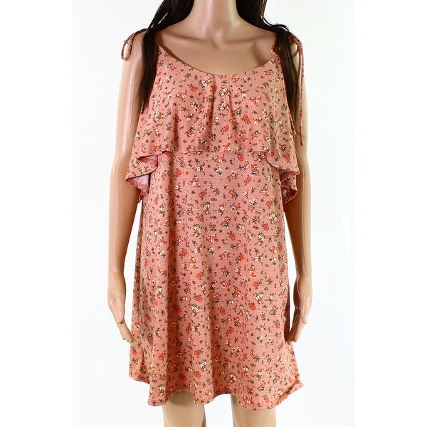 TopShop Womens Floral Print Popover Shift Dress