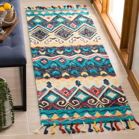 Safavieh Handmade Aspen Bohemian & Eclectic Tribal Blue/Red Wool Rug