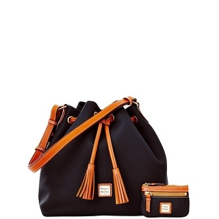 Dooney & Bourke Pebble Grain Drawstring with Coin Case (Introduced by Dooney & Bourke at $285 in Dec 2014) - Black