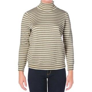 Lauren Ralph Lauren Womens Plus Knit Long Sleeves Turtleneck Sweater - 1X