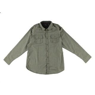 Burnside Mens Button-Down Shirt Herringbone Collar - 2XL