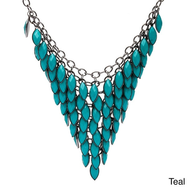 Alexa Starr Colored Lucite Bib Necklace. Opens flyout.