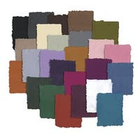 Shizen Design Handmade Pastel Paper, 8-1/2 x 11 inches, Multiple Colors, 25 Sheets