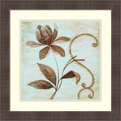 Framed Art Print 'Floral Souvenir 2' by Okre 19 x 19-inch