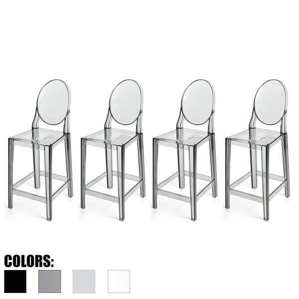 Shop 2xhome Set Of 4 Smoke Modern 25 Seat Bar Stool Counter