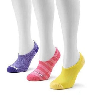 Converse Socks Women Made For Chucks 3-pk.Striped No-show 4-10 - purple/yellow/pink striped