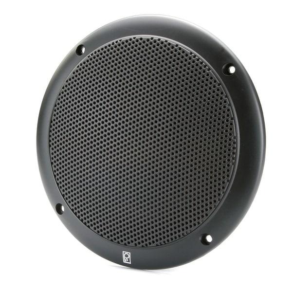 "Poly-Planar 6"" 2-Way Coax-Integral Grill Marine Speaker - (Pair) Black"