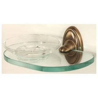 Alno A8030 Wall Mounted Glass Soap Dish from the Classic Traditional Collection