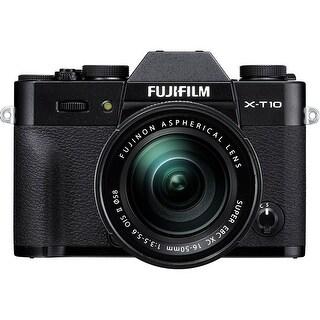 Fujifilm X-T10 Mirrorless Digital Camera with 16-50mm Lens (Black) (International Model)
