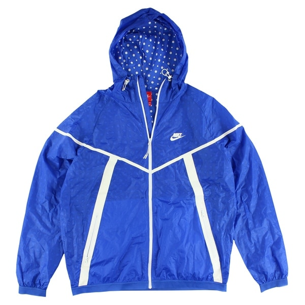 f5e41e459cf23 Shop Nike Mens Tech Hyperfuse Windrunner Jacket Royal Blue - Royal Blue  White - XL - Free Shipping Today - Overstock - 22545097