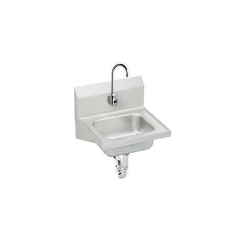 Elkay CHS1716SACC Wall Mount 18 Gauge Stainless Steel Handwash Sink with Sensor Faucet